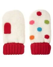 GYMBOREE WINTER CHEER IVORY w/ COLOR DOTS SWEATER MITTENS 0 12 2T 3T 4T 5T NWT