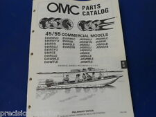 1989, 45, 55 Commercial Models Omc Evinrude Johnson Parts Catalog