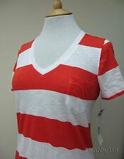 Ladies 100% Cotton Striped T-Shirt Summer Top By Kersh S M L XL BNWT