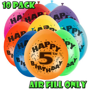 AGE NUMBER AIR FILLED BALLOONS ALL ON ONE LISTING