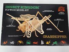 Insect Kingdom Plywood Model Kit Grasshopper