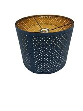 """IKEA NYMO Blue & Brass color 13"""" Lamp Shade. Used but in Near Perfect Condition."""