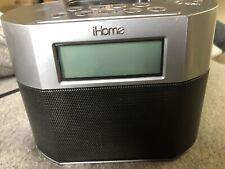 iHome iP23 iPhone/iPod Dock & Charging Station Gray Clock Apple