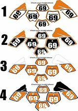 2004-2007 KTM EXC Number Plates Side Panels Graphics Decal