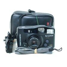 Fujifilm 35mm Film Camera Discovery 270 Zoom Date w/ Flash & Case WORKING VGC