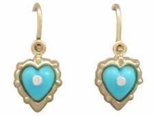 Turquoise Yellow Fine Earrings