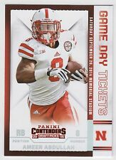 AMEER ABDULLAH 2015 Contenders Draft Picks Game Day Tickets #2 Cornhuskers