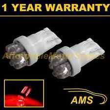 2x W5W T10 501 Xenon ROSSO 7 DOME LED Hi-Level FRENO Lampadine HID hbl100401