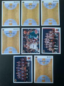1991/92 Upper Deck Basketball Checklist Set 8 Cards