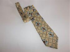 Structure Mens Neck Tie 100% Silk Floral Diamond Pattern USA