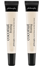 New Philosophy Coconut Frosting Lip Gloss 2 x Full Size Sealed Free Ship!!