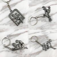 1X DIY Couples Moving Sex Position Pendant Keychain Keyring Keyfob Decor Gift