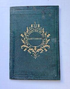 Rare Philips 1860 Pocket Map Counties of Scotland KIRKCUDBRIGHT SHIRE