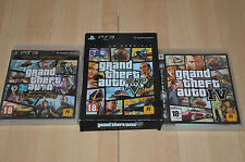 lot 3 jeux PS3 Grand Theft Auto GTA IV, V (édition spéciale),  Liberty city - VF