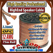 1m 12Awg Gauge 3.3mm2 Ultra Pure OFC Car Audio Cable Speaker Wire (by the meter)