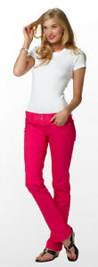 Lilly Pulitzer Punch Pink Colored Worth Straight Leg Stretch Denim Jeans $148