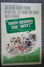 Who's Minding the Mint 1967 Berle Denver Bishop Buono Provine One Sheet Poster