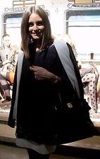 Alexander Wang Grey Terry Leather Sleeve Blazer Jacket 2 w/ Olivia Palermo Photo