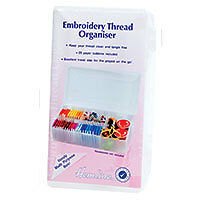 Embroidery Thread Organiser Small ncludes 25 paper bobbins. Size 18x9. x 3.8cm
