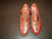 DOLCIS BROGUES BROWN LEATHER LACE UP SHOES SIZE UK 7