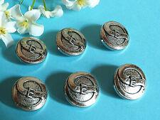 """620B/Chequerboard Buttons """" Belt """" Silver Set Of 6 Buttons Ép. 1970"""