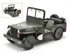 Hand Made 1:12 Model Car Jeep Williys MB - Retro Tin Model Home Office Decor NR
