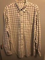 Brooks Brothers Men's Button Shirt Long Sleeve White & Black Plaid Size Large