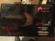 RE AUDIO DTS 1500.1  2000 Watt Car Sub Amplifier  DTS1500.1  Dealer cost