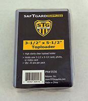 50 Saf-T-Gard 3-1/2 x 5-1/2 Rigid Top Loader Photo, Index Card Holder #3556