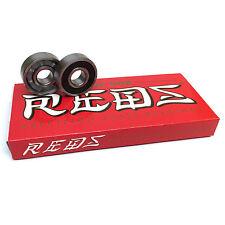 Bones Bearings - 8mm Bones Super Reds Skateboard Bearings - Skate Rated