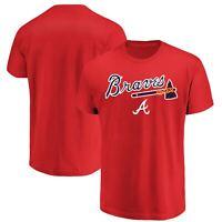 Men's Majestic Red Atlanta Braves Bigger Series Sweep T-Shirt