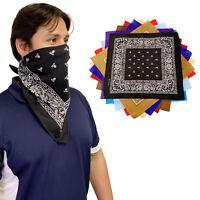 1 Dozen 100% Cotton Bandanas Paisley Printed Cloth Scarf Wrap Cover