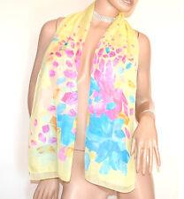STOLA GIALLA  foulard donna fantasia velata coprispalle elegante abito A42