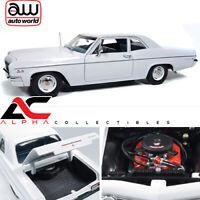 AUTOWORLD AMM1078 1:18 1966 CHEVROLET CHEVY BEL AIR WHITE