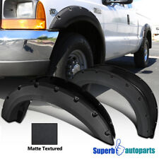 1999-2007 Ford F250 F350 Superduty Black Pocket Rivet Fender Flares Tough Finish