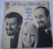 "PETER, PAUL AND MARY - 7""EP - ""A SONG WILL RISE"" - 1965 WARNER BROS AUSTRALIA"