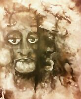 Original African American 20x24 Acrylic Canvas Painting