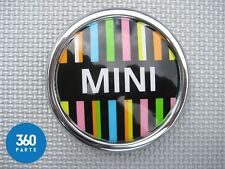 NEW GENUINE MINI RAY MULTICOLOUR BADGES FRONT GRILLE DASHBOARD 51142310733
