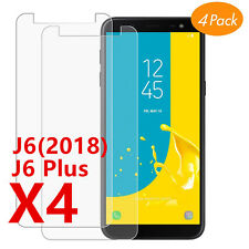 Film protection écran Galaxy Samsung J6 J6 Plus 2018 vitre verre trempé LOT1/4