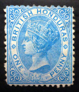 BRITISH HONDURAS 1874 - 1d SG6 Unused No Gum SALE NF273