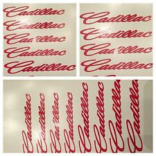 6 pc Red Cadillac Brake Caliper Vinyl Sticker Decal Logo Overlay Graphic cts