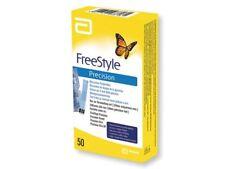 Freestyle Precision (Abbott) - Blood Glucose Testing Monitoring 50 Sensor Strips