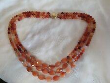 3 Strand Tonal Amber Colour Necklace