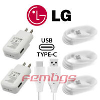 NEW OEM ORIGINAL LG Rapid Fast Wall Charger Type C Cable For LG V20 V30 G7 G6 G5
