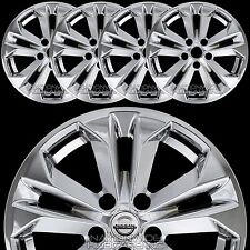 """Set of 4 2014-2017 Nissan Rogue SV 17"""" Wheel Skins Hubcaps Full Alloy Rim Covers"""
