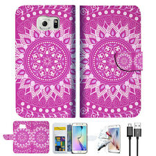 Purple AZTEC TRIBAL Wallet Case Cover For Samsung Galaxy S7 -- A003