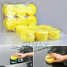 12 x car care foam waxing pads vehicle sponge applicator cleaning paint polish