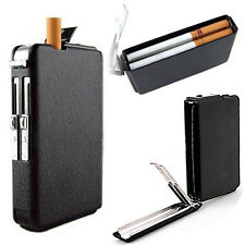 Automatic WindProof Lighter Pocket Ejection Butane Cigarette Case Box Mirable