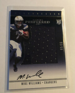 2017 Panini Preferred Mike Williams RPA /99 RC Rookie Patch Auto