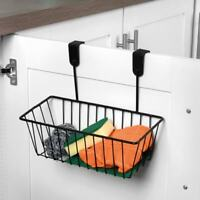 New Style Strong & Reliable Overdoor Storage Basket Kitchen/Bathroom use - Black
